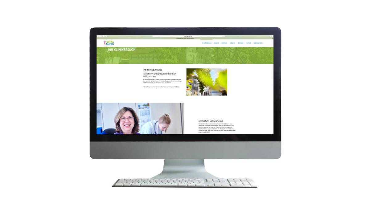 X und Y Design Vital Klinik Alzenau Internetseite